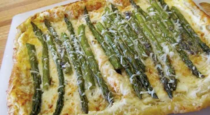Asparagus Parmesan Tart
