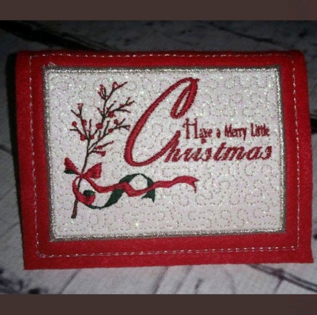 Christmas Cards Designs Set Of 6 Machine Embroidery Patterns