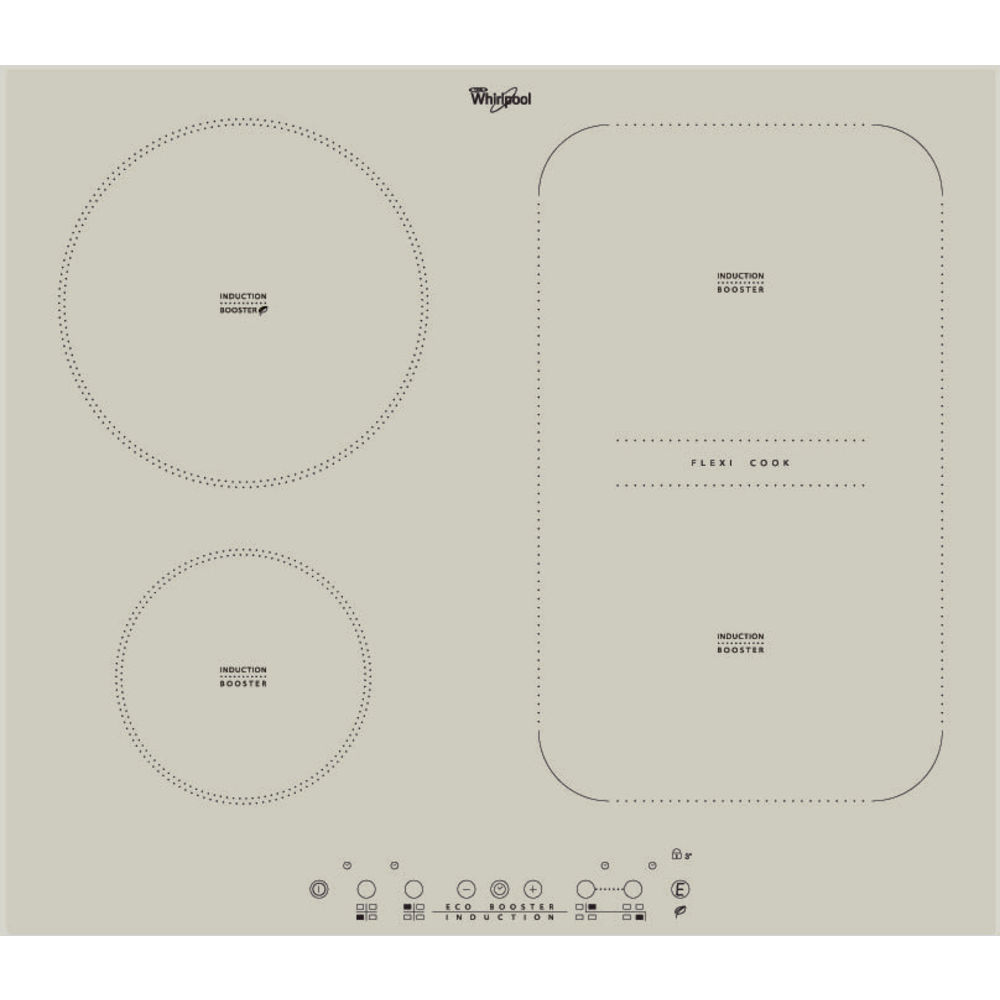 hight resolution of whirlpool acm 808 ba s built in induction hob in silver dawn