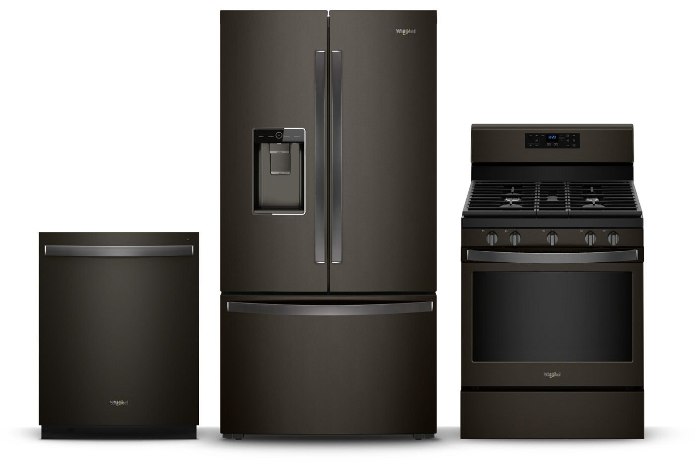 black kitchen appliances hotel rooms with fingerprint resistant stainless steel whirlpool bring the classic style of matte into your