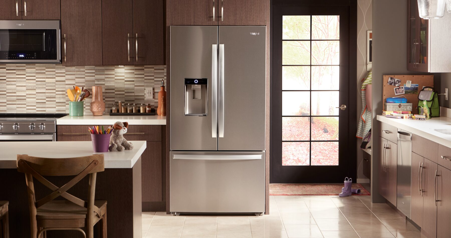 hight resolution of multiple kitchen appliances are shown in a well appointed kitchen