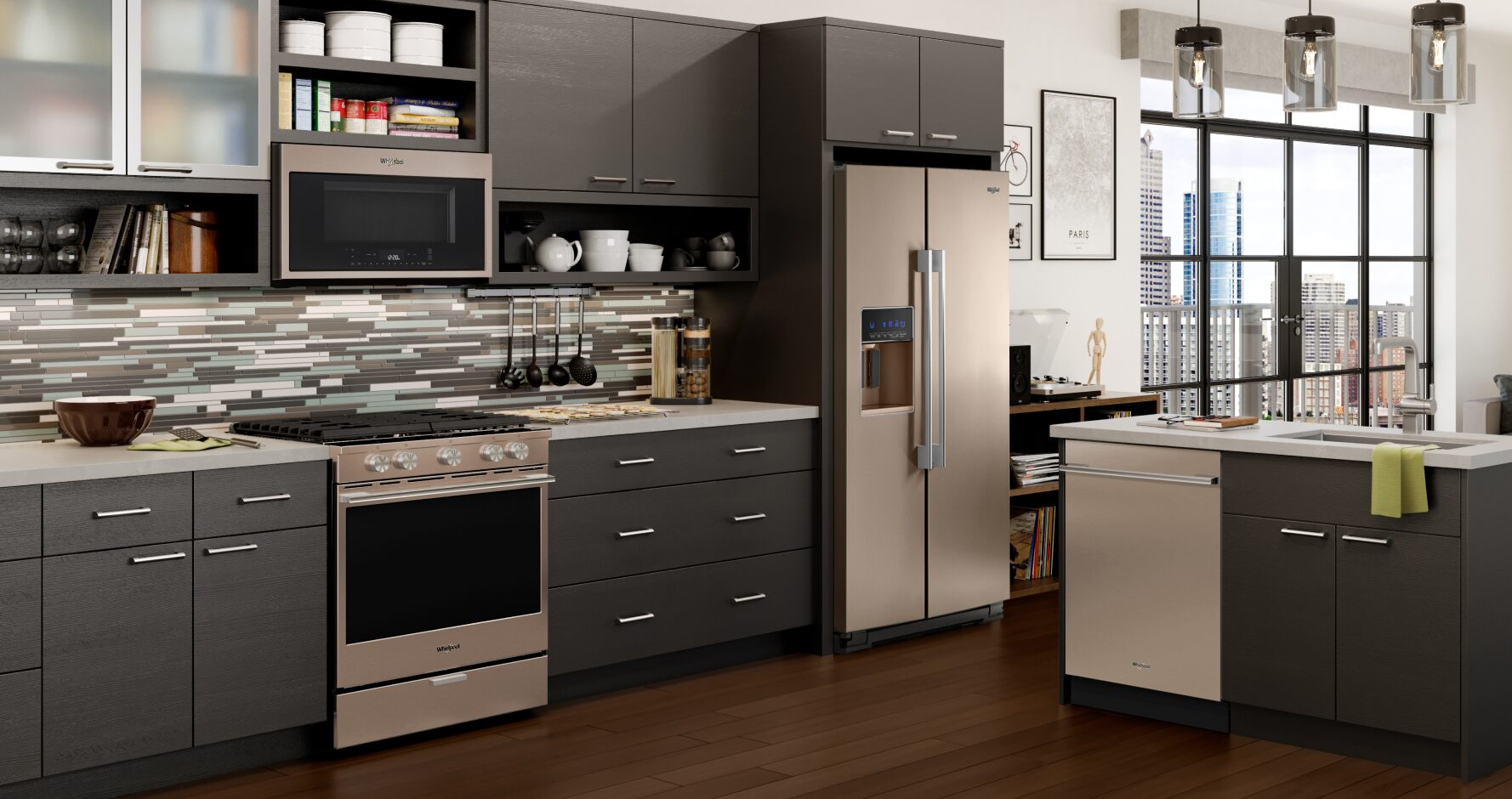 hight resolution of a kitchen featuring a complete suite of kitchen appliances