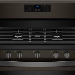 Black Kitchen Appliances Corner Cabinet Fingerprint Resistant Stainless Steel Whirlpool Matte Ranges And Other From