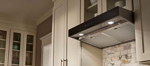 make sure the kitchen vent hood you choose is the right size with the fit system  [ 2000 x 883 Pixel ]