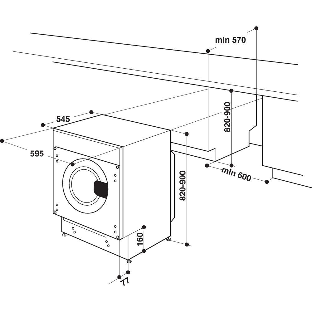 Whirlpool BI WMWG 71484 UK Integrated Washing Machine in