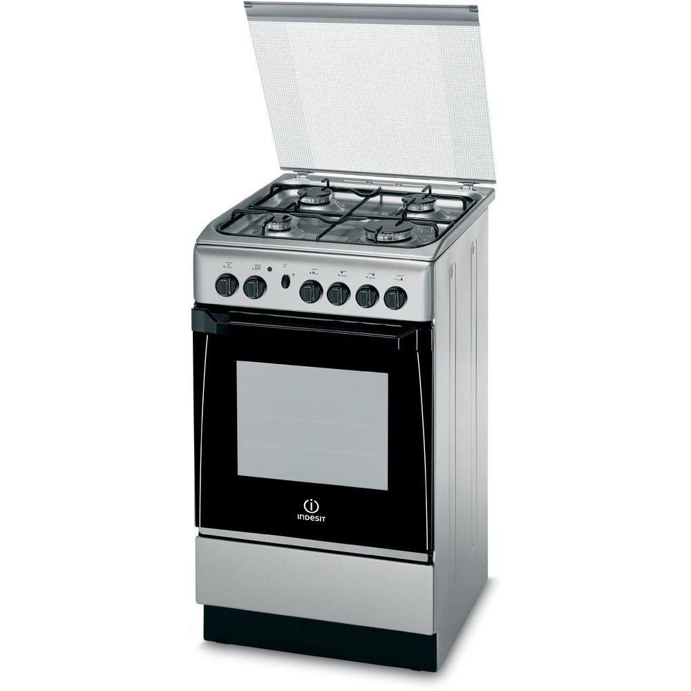 Cucina a gas a libera installazione Indesit 50 cm  KN1G21S X I S