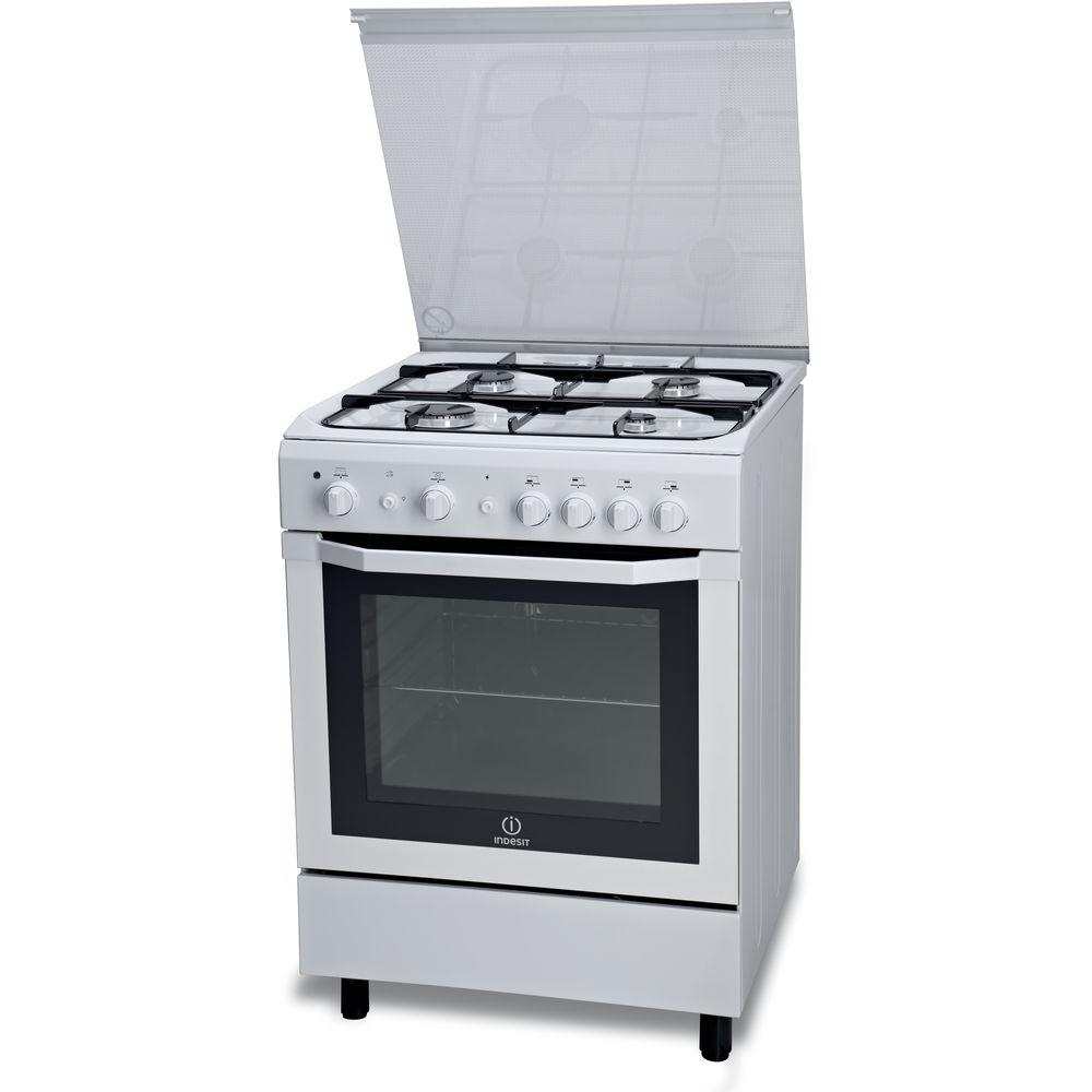 Cucina a gas a libera installazione Indesit 60 cm