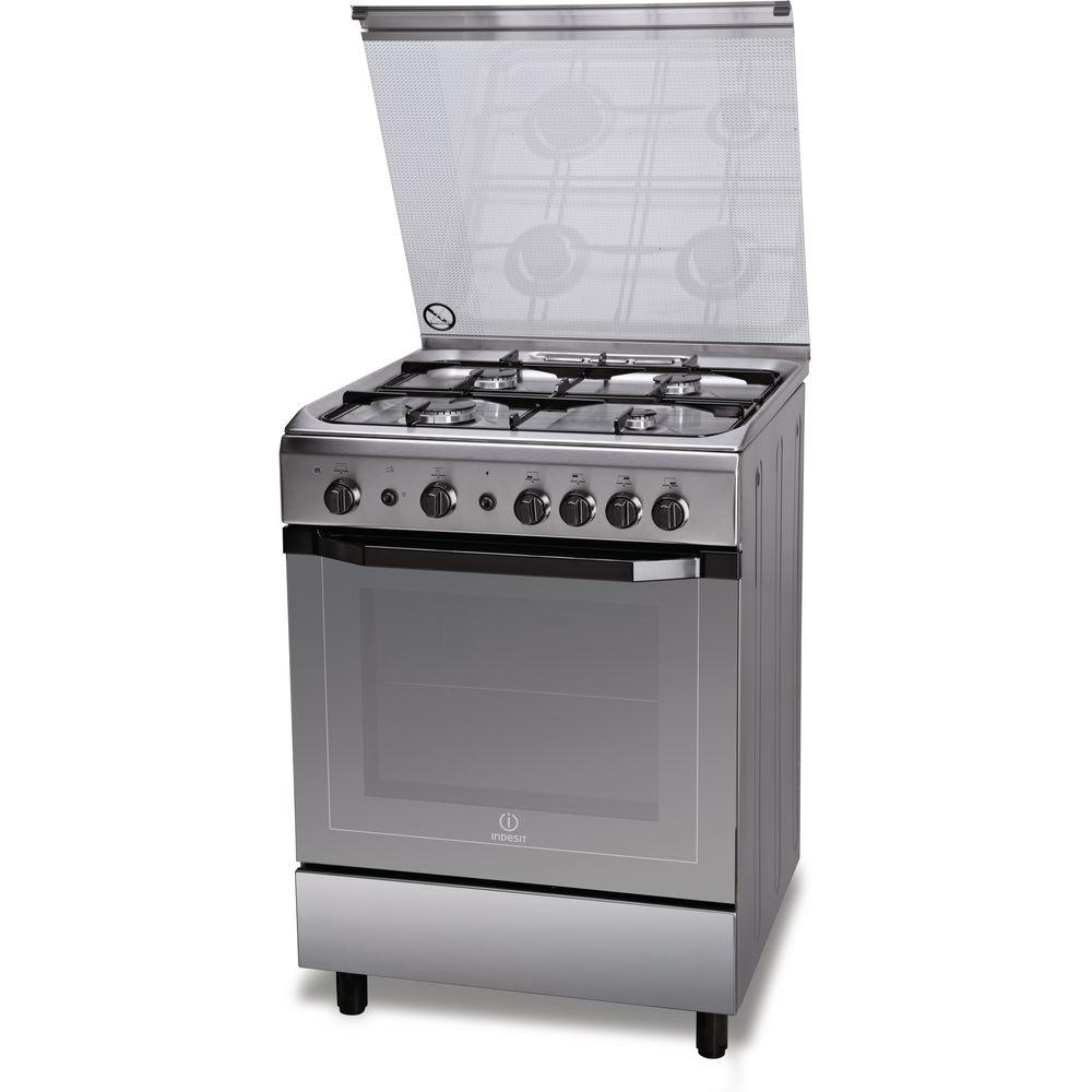 Cucina a gas a libera installazione Indesit 60 cm  I6GG1F X I