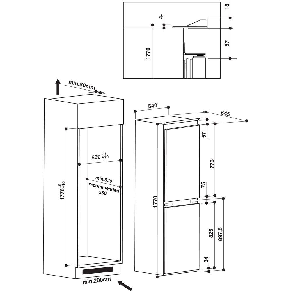 medium resolution of hotpoint built in fridge freezer