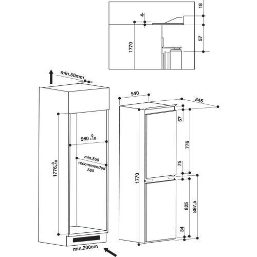 small resolution of hotpoint built in fridge freezer