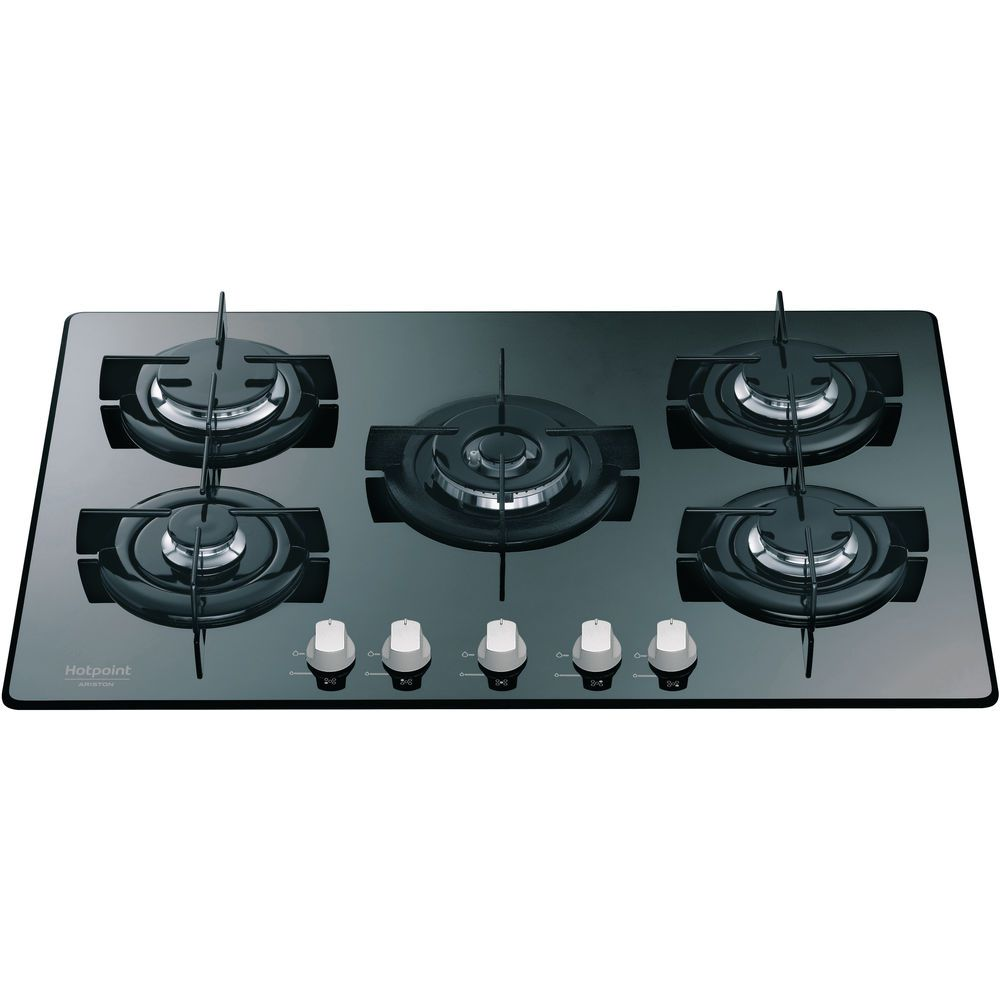 5 fuochi Piano cottura a gas Hotpoint  DD 752 WHAMR