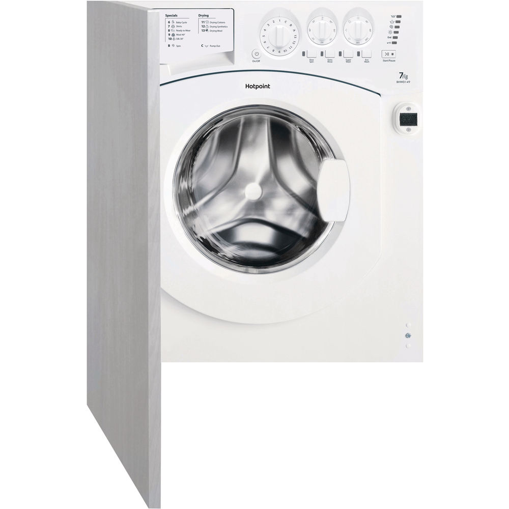 hight resolution of hotpoint aquarius bhwd 149 1 integrated washer dryer white