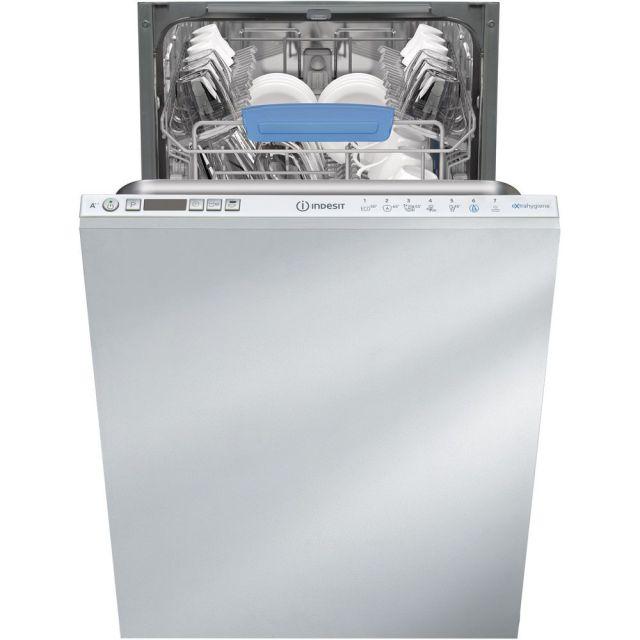 Интегрированная посудомоечная машина Indesit: узкая, белый цвет