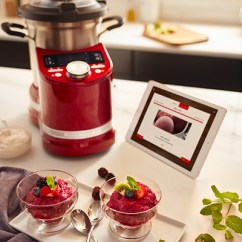 Kitchenaid Kitchen Custom Island For Sale Previews State Of The Art Smart Display With Candy Apple Red Cook Processor Connect