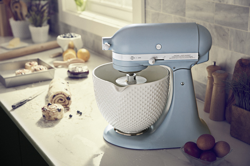 kitchen aid products kitchens in new homes kitchenaid honors 100 years of making with limited edition 100th anniversary misty blue