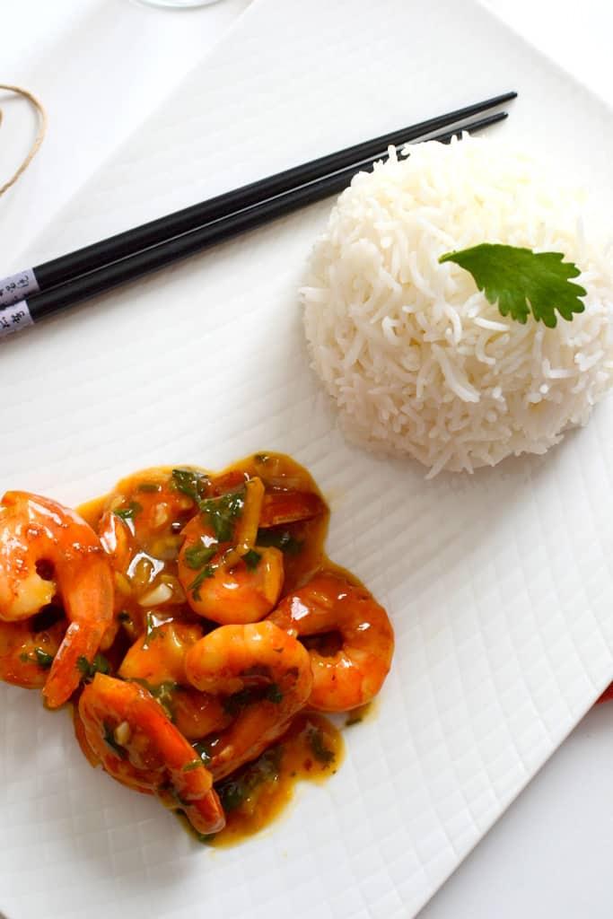 Shrimps In Spicy Orange Sauce