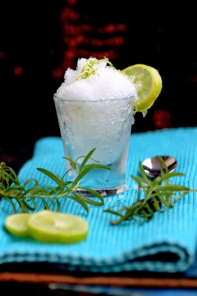 Lemon and Rosemary Granita is a refreshing dessert made using lemon juice, rosemary, sugar and water. Here is a recipe to make Lemon and Rosemary Granita.