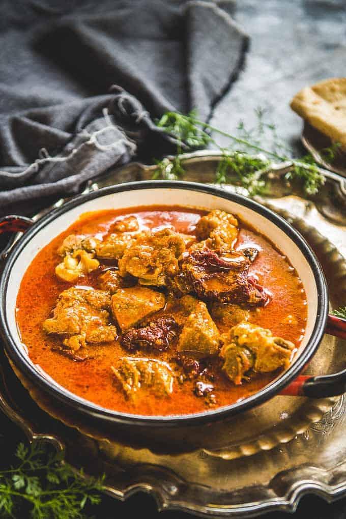 Authentic Kashmiri Mutton Rogan Josh Recipe (Kashmiri Lamb Curry)