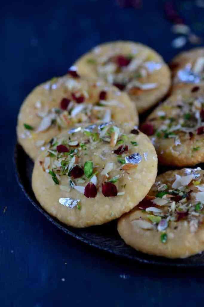 Rajasthani Mawa Kachori is a traditional Rajasthani dish which is basically fried puffed bread stuffed with sweetened and flavored khoya.
