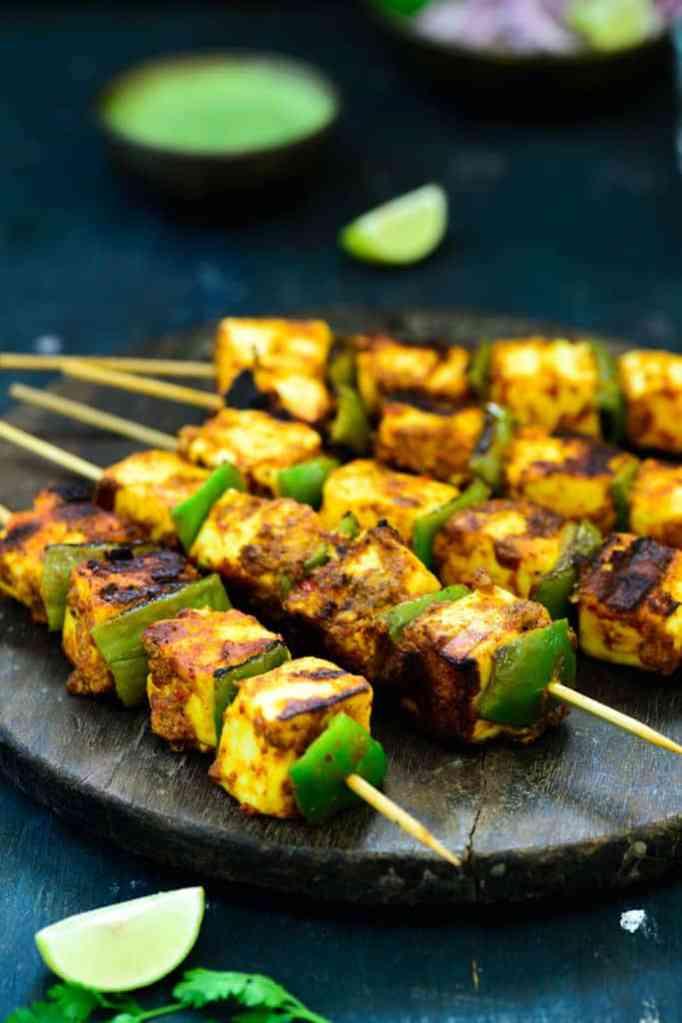 Achari Paneer Tikka Recipe, How to make Achari Paneer Tikka