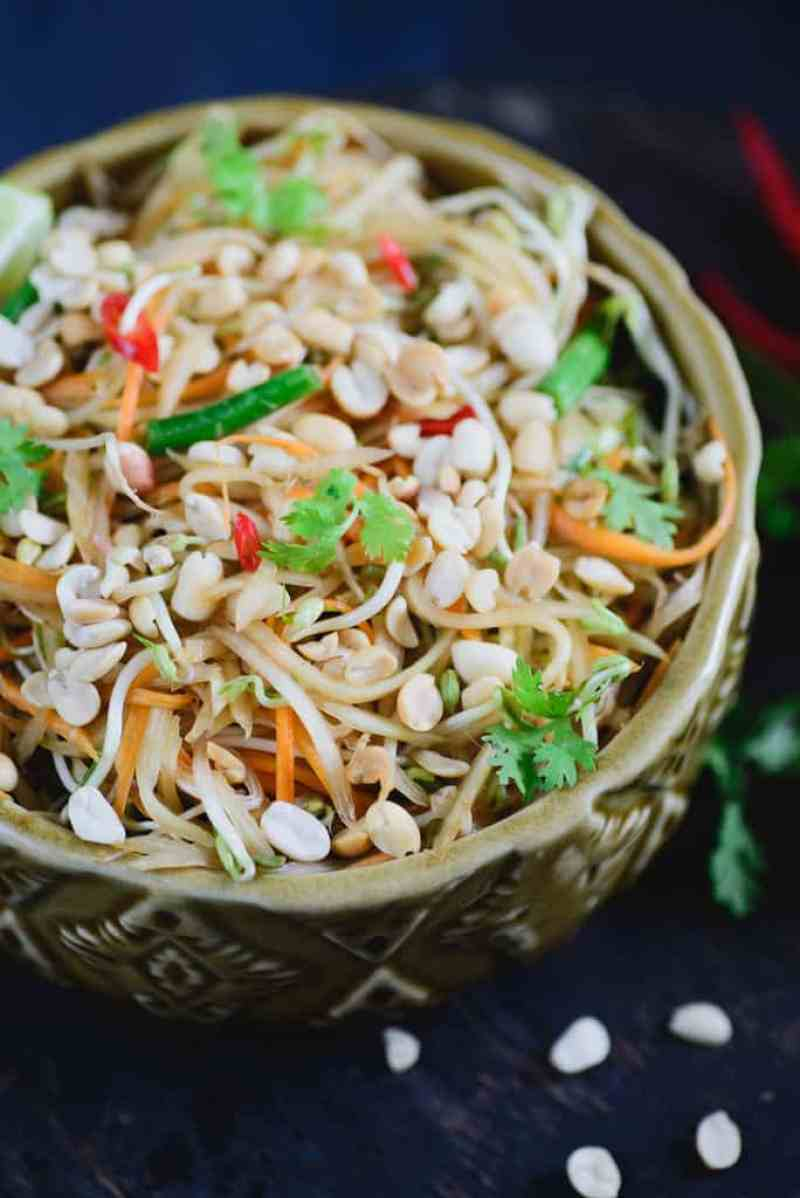 spicy thai green papaya salad recipe how to make spicy