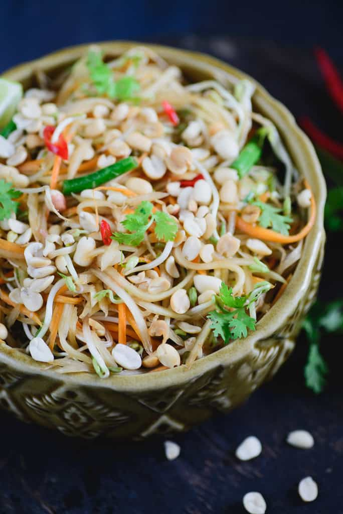 spicy thai green papaya salad recipe how to make spicy
