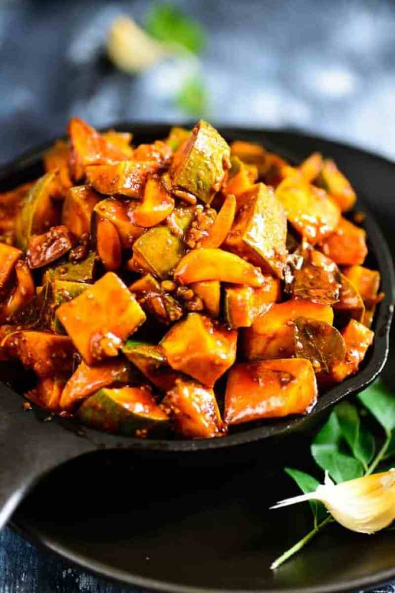 Kerala Style Instant Mango Pickle Is A Tangy Pickle Which Can Be Made In No  Time