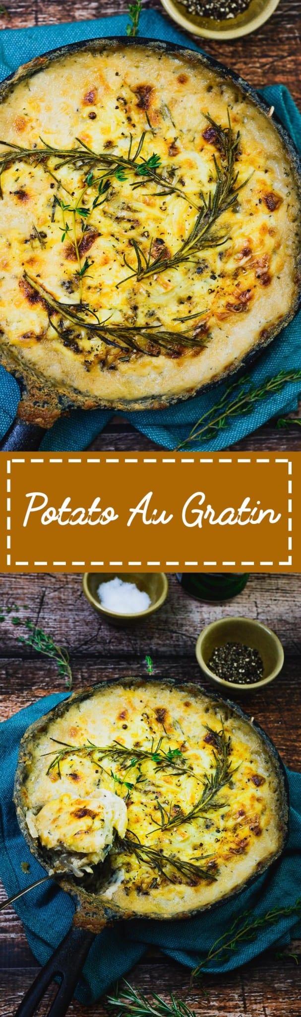 Potato Au Gratin with Caramelised Onion and Gouda Cheese 1-Potato Au Gratin with Caramelised Onion and Gouda Cheese