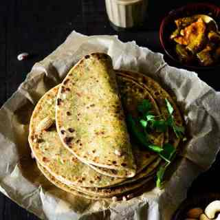 Dry Fruits Paratha is whole wheat flour rotis stuffed with powdered dried fruits. Unlike other parathas, this Indian flatbread is rich in vitamins and heart friendly. The parathas are also tasty and simply irresistible.