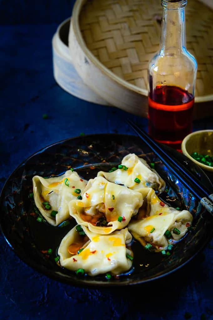 Chicken Wontons in Chili Broth Recipe, How to make Chicken Wontons in Chili Broth