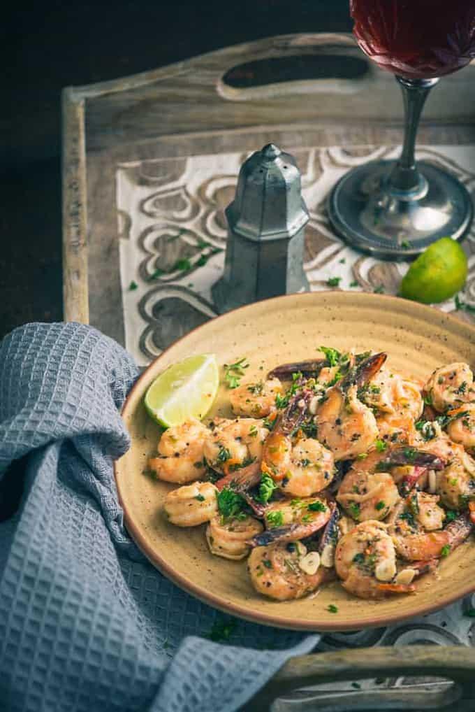 Garlic Parsley Prawns Recipe, How to make Garlic Parsley Prawns