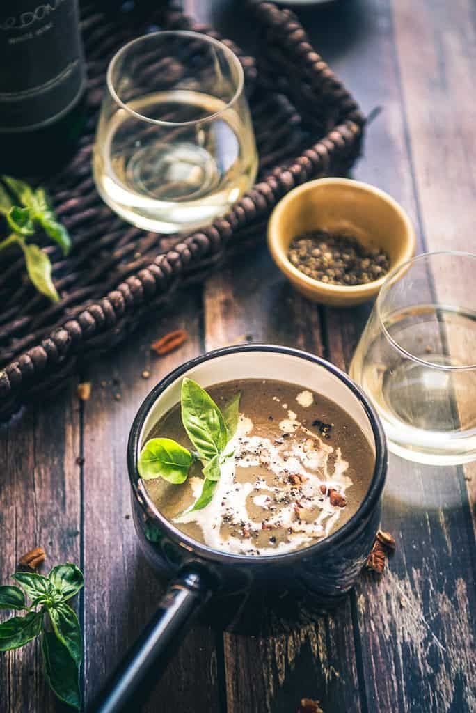A morsel of Mushroom Wine Soup is nothing less than an indulgence. Do read its recipe in detail and relish it piping hot!