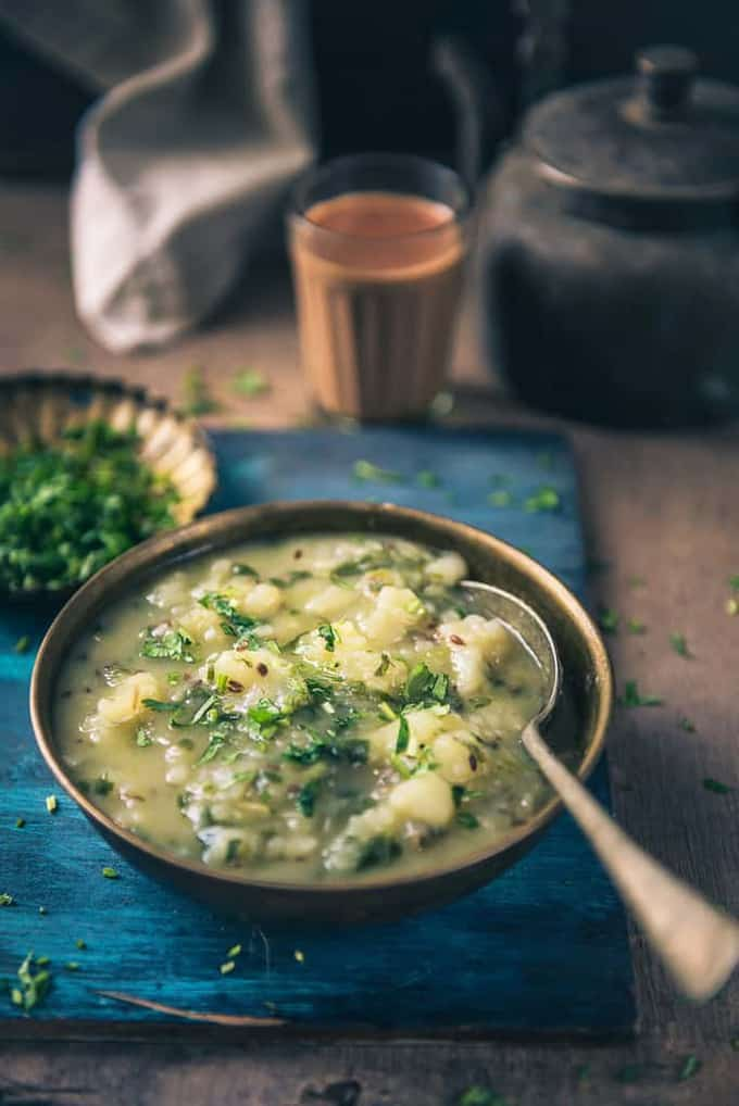 Farali Aloo Palak Sabzi Recipe, How to make Farali Aloo Palak Sabzi