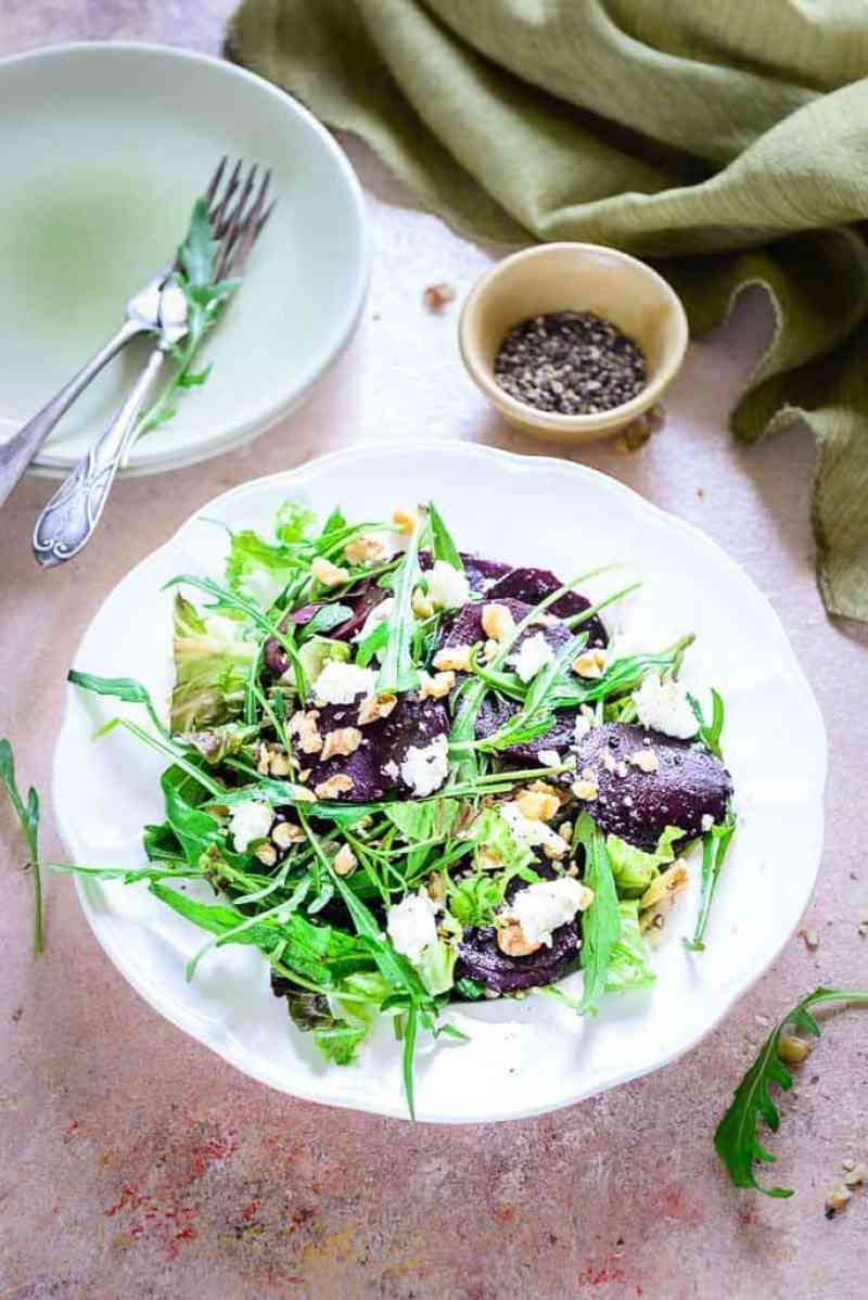 Made using Balsamic Vinegar, extra virgin olive oil, walnuts and feta cheese, Balsamic Beet Salad is surely a treat which cannot be missed
