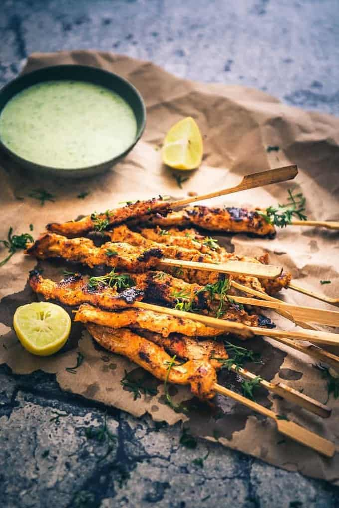 Chicken Peri Peri Skewers Recipe, How to make Peri Peri Chicken Skewers or Piri Piri Chicken