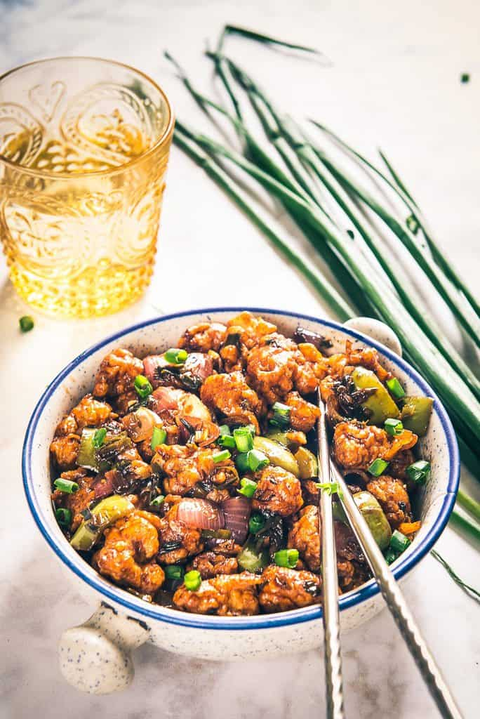 A delicious and a different take on manchurian, Gobi Manchurian Dry Recipe combines the goodness of cauliflower and sizzling sauces as a wonderful appetizer