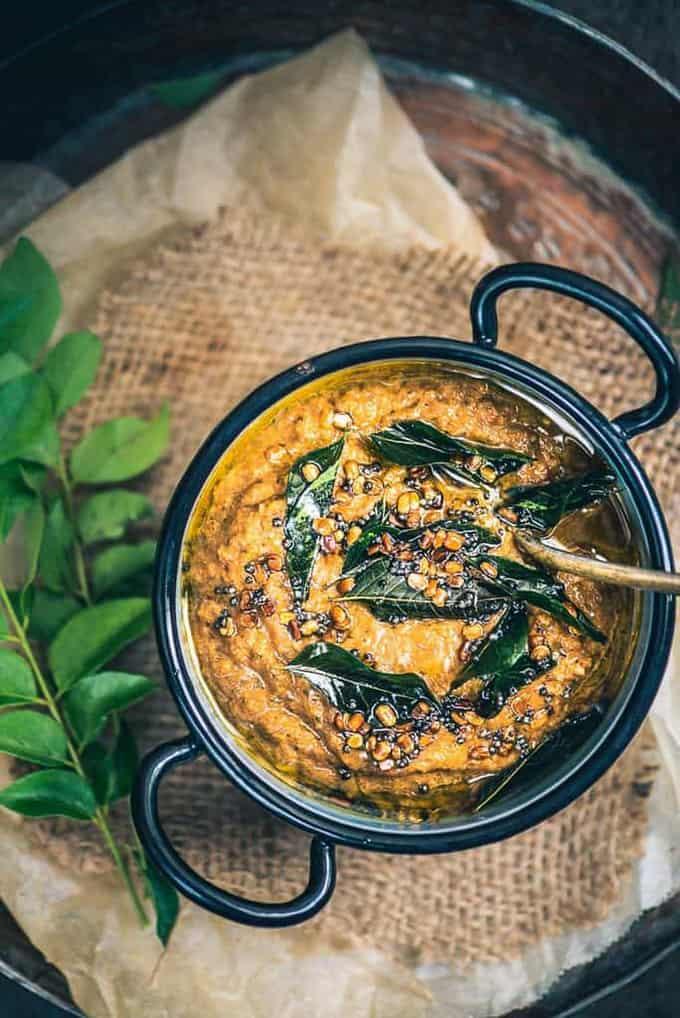 Easy Onion Tomato Chutney Recipe for Dosa Idli