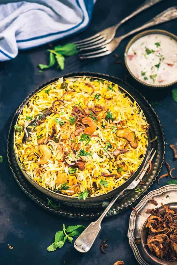 Hyderabadi Vegetable Dum Biryani I Restaurant Style Veg Dum Biryani Recipe