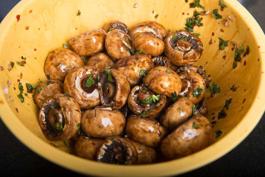 Healthy Oven Roasted Garlic Mushrooms Recipe, oven roasted mushrooms recipe, garlic butter mushrooms recipe