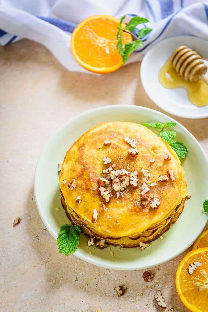 Healthy Whole Wheat Orange Pancakes Recipe – Video Recipe