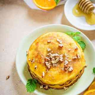 Healthy Whole Wheat Orange Breakfast Pancakes Recipe, orange zest pancakes, easy orange pancake recipe, orange juice pancakes, healthy orange pancakes, simple orange pancakes