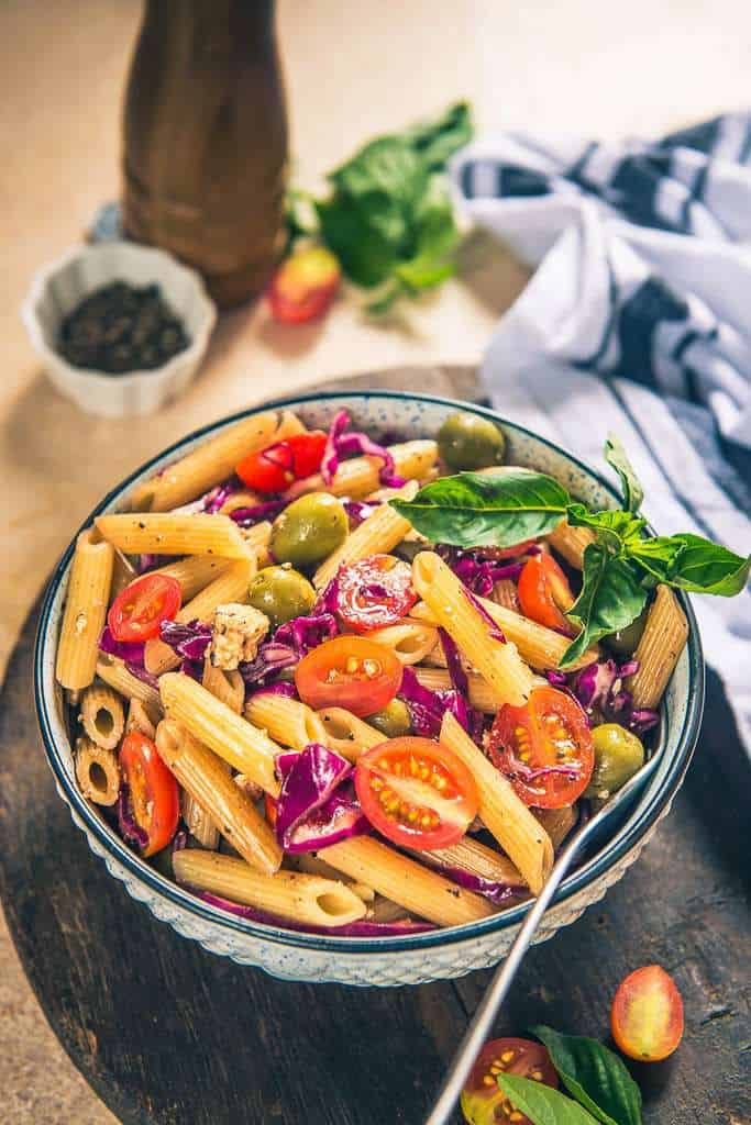 Sicilian Pasta Salad is a refreshing and delicious summer salad which is loaded with flavours and is super easy to make.
