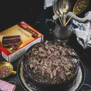 Betty Crocker Choco Fudge Cake mix is a quick, effortless Dessert idea. You can make it in no time when you have sudden dessert cravings or guests at home. Here is how I assembled mine.