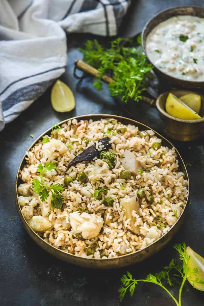 Brown Rice Pulao using TTK Prestige Rice Cooker