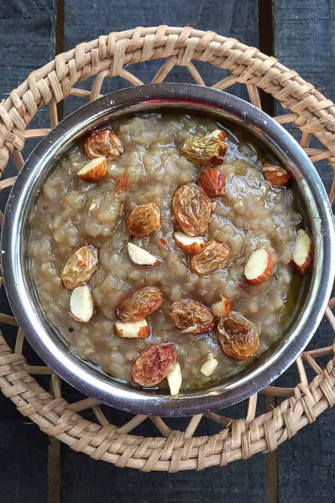 Chakkara Pongal with Brown Rice