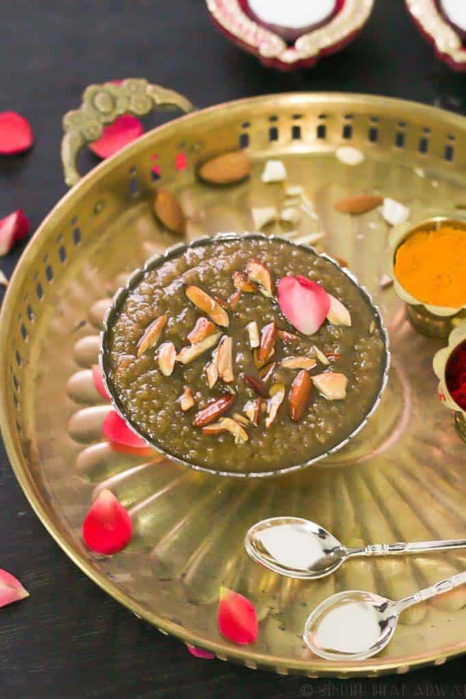 Navane Payasa served in a bowl