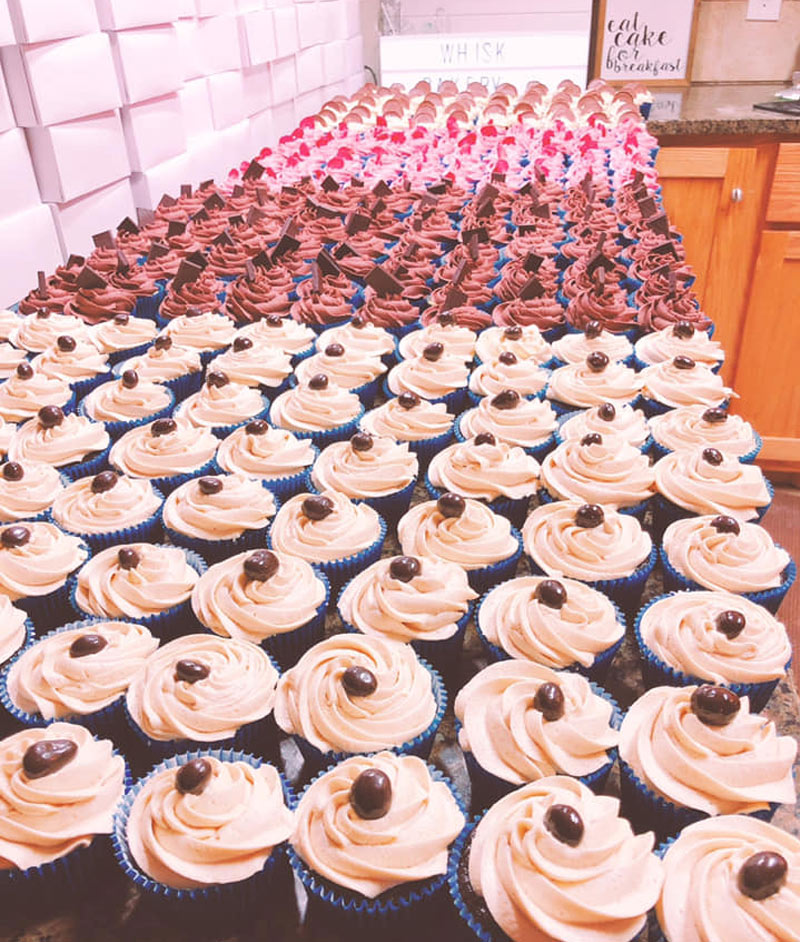 whisk cupcakes
