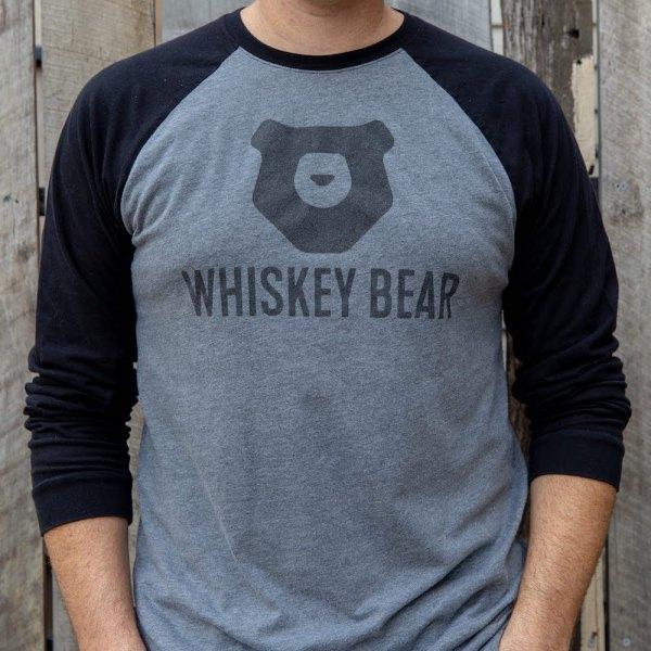 Whiskey Bear - Apparel - Mens - Baseball Tee