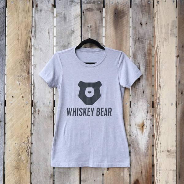 Whiskey Bear - Apparel - Ladies - SS Tee - Heather Gray
