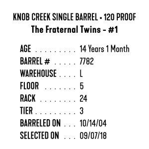 "Knob Creek Single Barrel – ""The Fraternal Twins"""